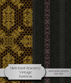 Merchant Resource - Vintage Patterns 2D Merchant Resources antje