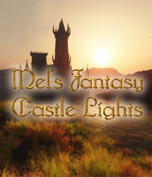 Mel's Fantasy Castle Lights Lights OR Cameras ArtByMel