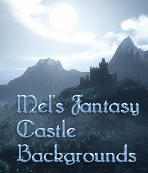Mel's Fantasy Castle Backgrounds 2D ArtByMel