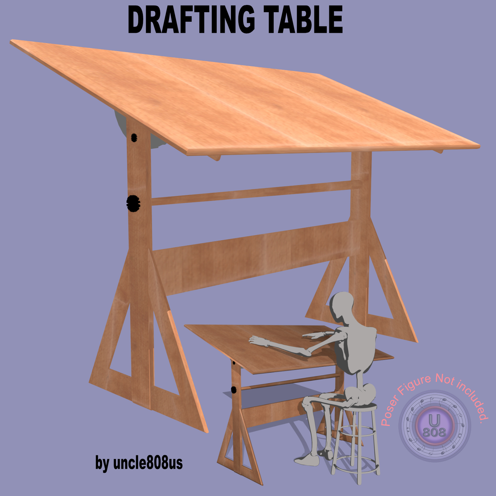 Drafting Table FBX + OBJ