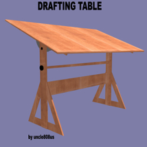 Drafting Table FBX + OBJ image 1