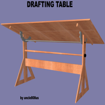 Drafting Table FBX + OBJ image 2