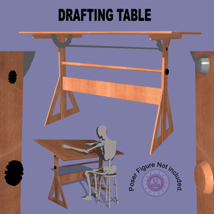 Drafting Table FBX + OBJ image 3