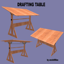 Drafting Table FBX + OBJ image 4