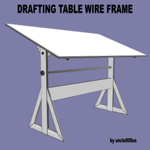 Drafting Table FBX + OBJ image 5