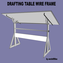 Drafting Table FBX + OBJ image 6