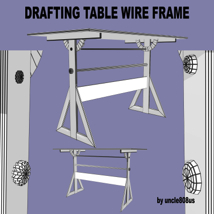Drafting Table FBX + OBJ image 7