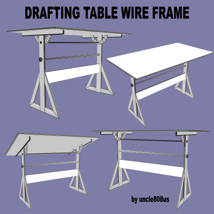 Drafting Table FBX + OBJ image 8