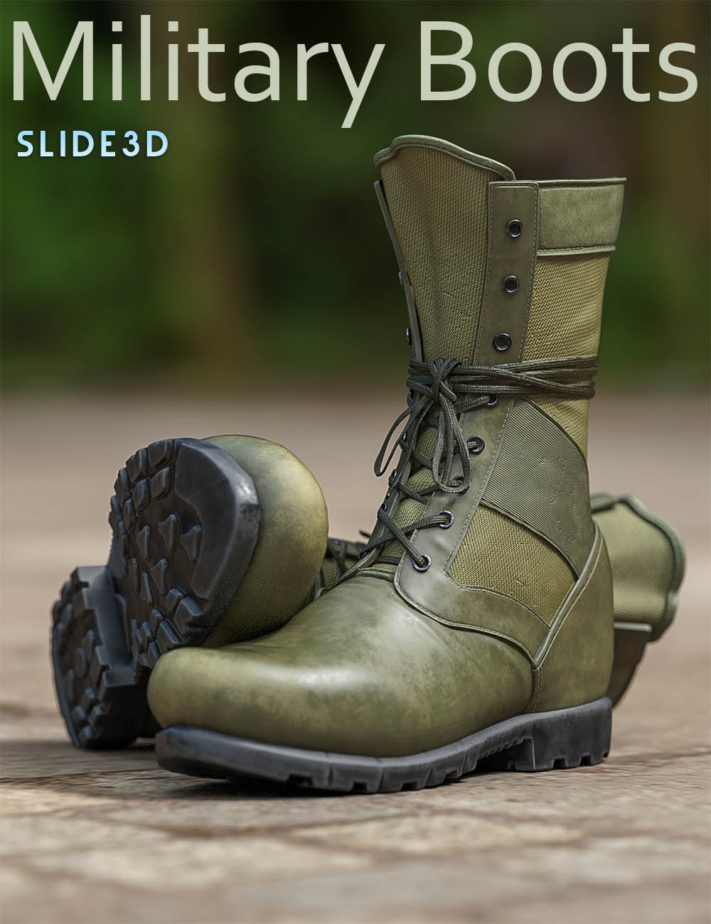 Slide3D Military Boots for Genesis 3 Male(s) by Slide3D