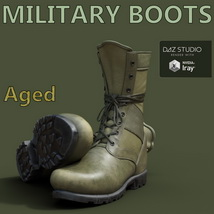 Slide3D Military Boots for Genesis 3 Male(s) image 1