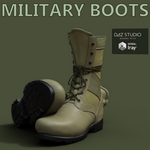 Slide3D Military Boots for Genesis 3 Male(s) image 2