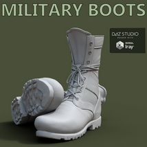 Slide3D Military Boots for Genesis 3 Male(s) image 3
