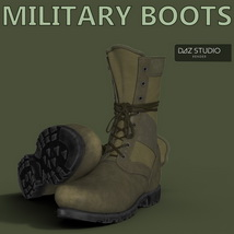 Slide3D Military Boots for Genesis 3 Male(s) image 4