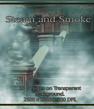 Steam and Smoke - 15 Designs on Transparent Background