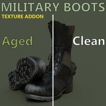 Slide3D Texture Addon for Military Boots for Genesis 3 Male(s) image 1