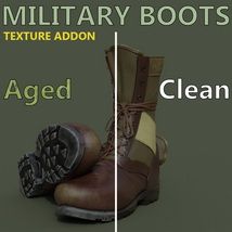 Slide3D Texture Addon for Military Boots for Genesis 3 Male(s) image 2
