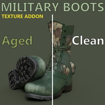 Slide3D Texture Addon for Military Boots for Genesis 3 Male(s) image 3