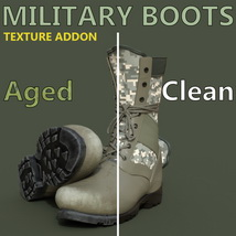 Slide3D Texture Addon for Military Boots for Genesis 3 Male(s) image 4