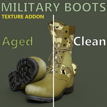 Slide3D Texture Addon for Military Boots for Genesis 3 Male(s) image 5