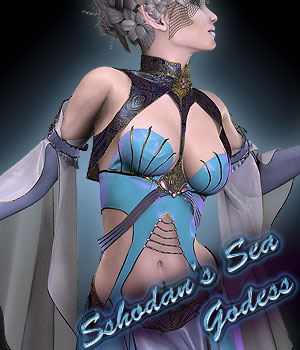 Sshodan's Sea Godess for V4 3D Figure Essentials Sshodan