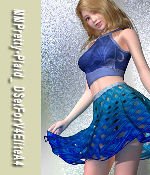 MMPretty-Plaid_ DSetForV4EliteA4 3D Figure Assets mamota