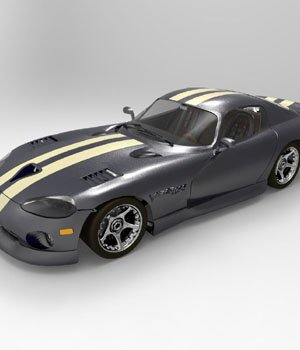 Dodge Viper (for DAZ Studio) 3D Models Digimation_ModelBank