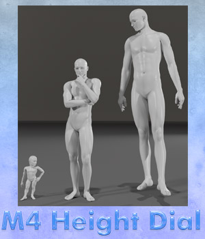 Michael 4 Height Dial 3D Figure Assets Lyrra