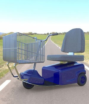 Electric Shopping Cart (for Poser) 3D Models VanishingPoint