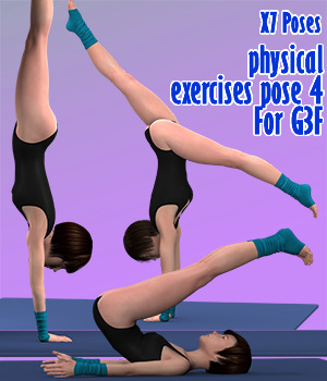 X7 Poses physical exercises pose 4 For G3F 3D Figure Assets x7