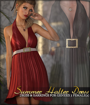 Summer Halter Dress G3F 3D Figure Essentials Sveva