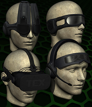 Cyber Headsets 3D Models 3D Figure Essentials coflek-gnorg