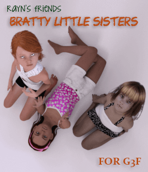 Rayn's Friends - Bratty Little Sisters 3D Figure Essentials AliveSheCried