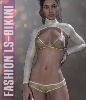 Fashion LS Bikini for G3F 3D Figure Assets xtrart-3d
