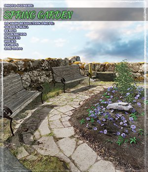 Photo Scenery: Spring Garden - Extended License 3D Models Extended Licenses ShaaraMuse3D