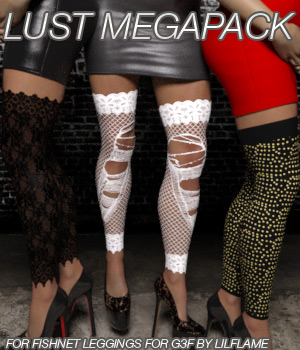 LUST MEGAPACK - Fishnet Leggings for Genesis 3 Female(s) 3D Figure Essentials Anagord