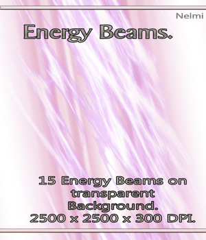 15 Energy Beams on transparent background 2D Graphics nelmi