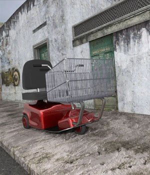 Electric Shopping Cart (for DAZ Studio) 3D Models VanishingPoint