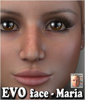 EVO face - Maria 3D Figure Assets 3Dream