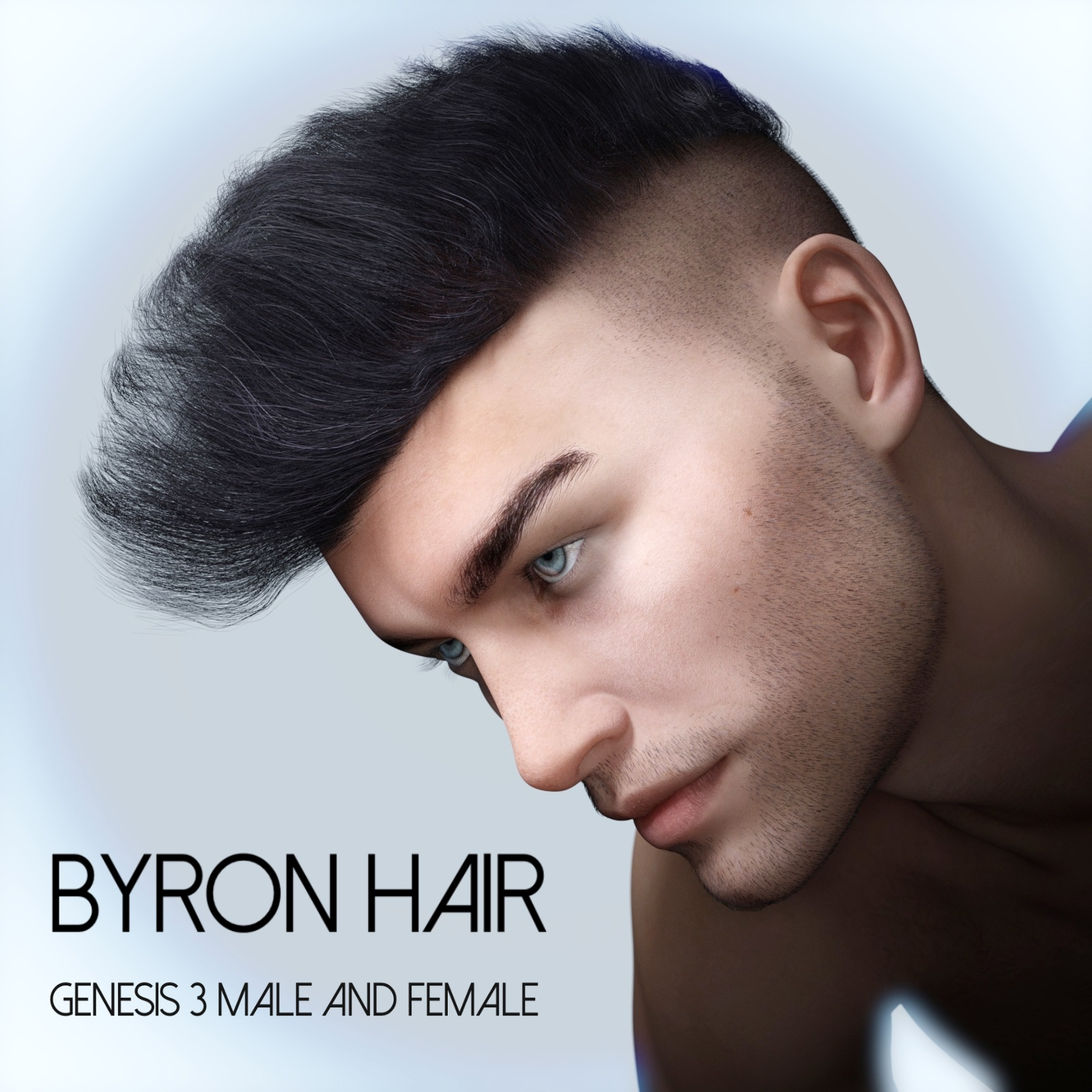 Byron Hair for Genesis 3 Males and Females