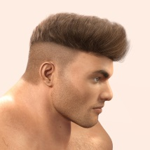 Byron Hair for Genesis 3 Males and Females image 1