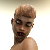 Byron Hair for Genesis 3 Males and Females image 3