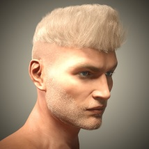 Byron Hair for Genesis 3 Males and Females image 4