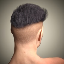 Byron Hair for Genesis 3 Males and Females image 5