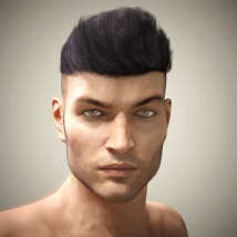 Byron Hair for Genesis 3 Males and Females image 8