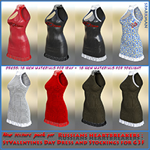 Textures addon for Russians heartbreakers: StValentines Day - Dress and Stocking image 1