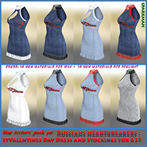 Textures addon for Russians heartbreakers: StValentines Day - Dress and Stocking image 2
