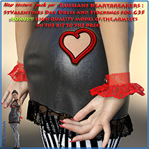 Textures addon for Russians heartbreakers: StValentines Day - Dress and Stocking image 5