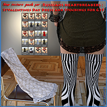 Textures addon for Russians heartbreakers: StValentines Day - Dress and Stocking image 6