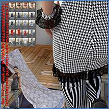 Textures addon for Russians heartbreakers: StValentines Day - Dress and Stocking image 7