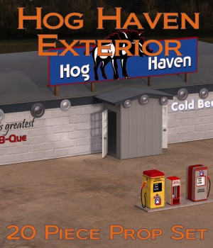 Hog Haven EXTERIOR by JudibugDesigns